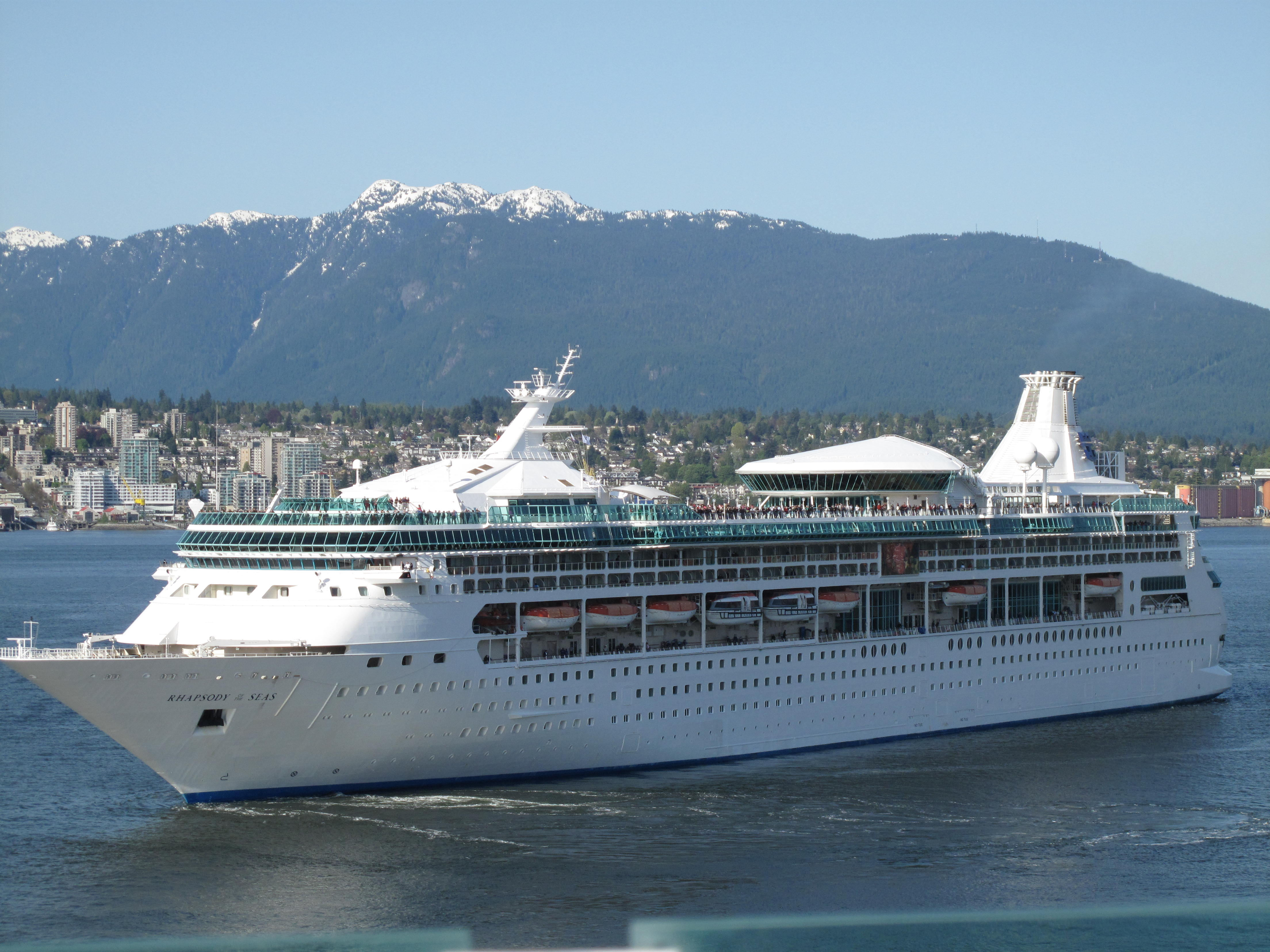 View of vancouver and the rhapsody of the seas from the radiance of