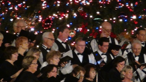 Performers at December Nights, Balboa Park