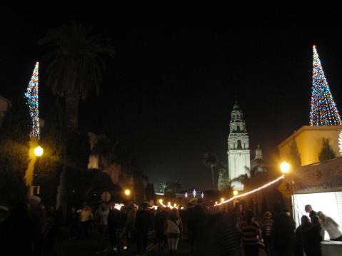 Balboa Park, December Nights, San Diego
