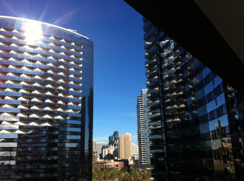 City View through the San Diego Marriott Marquis & Marina