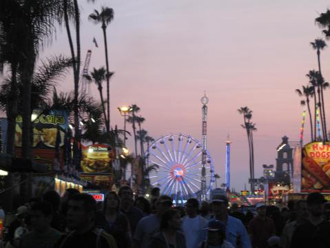 Sunset at San Diego County Fair