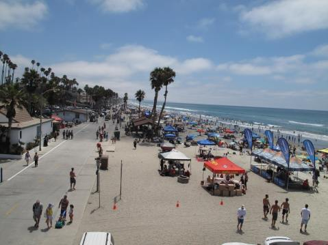A view from Oceanside Pier, Oceanside, CA