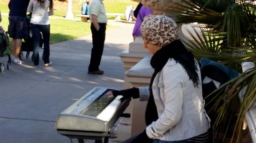 Musician at Balboa Park, San Diego