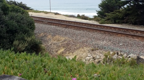 Train track at Del Mar