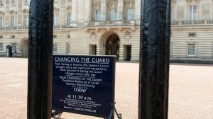Buckingham Palace Informational Sign