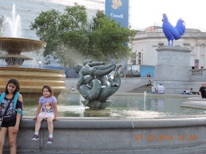 Trafalgar Square and the Blue Hen