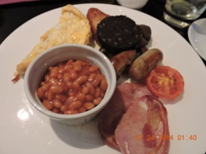 English Breakfast - complete with Black Pudding