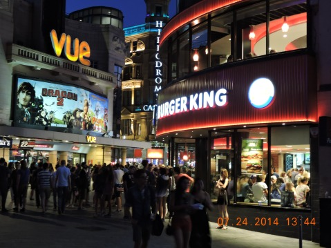 Burger King, Leicester Square