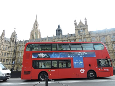 London Bus and the Palace of Westminster