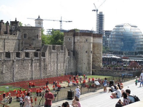 The Tower of London and City HallThe Tower of London and City Hall