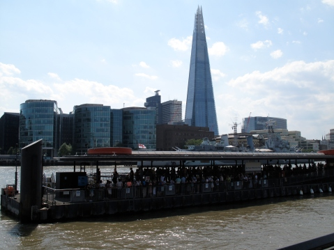 The Shard as seen from Tower Bridge area #8