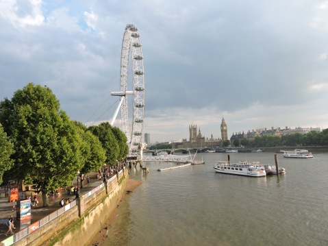 The London Eye, Houses of Parliament,  and Big Ben