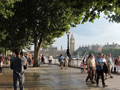 South Bank, River Thames and Big Ben