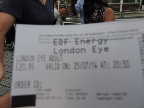 Ticket To The London Eye