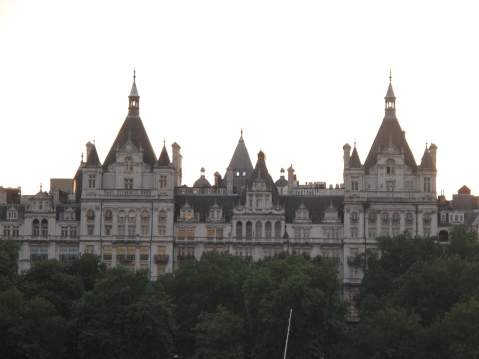 Beautiful Palace as seen from the South Bank, London