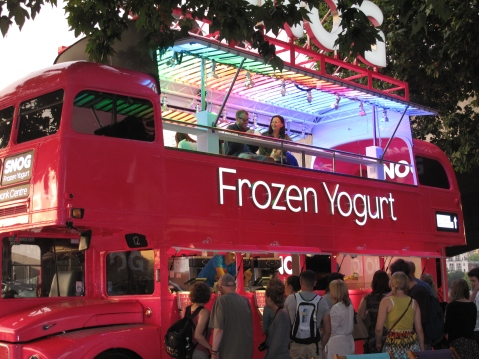 Snog Frozen Yogurt Bus, South Bank, London
