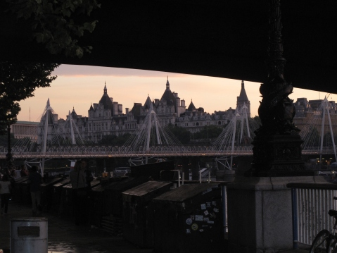 London in the glow of sunset
