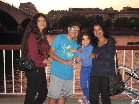 Me and my kids in London