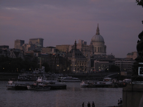 St. Paul's Cathedral, by the River Thames