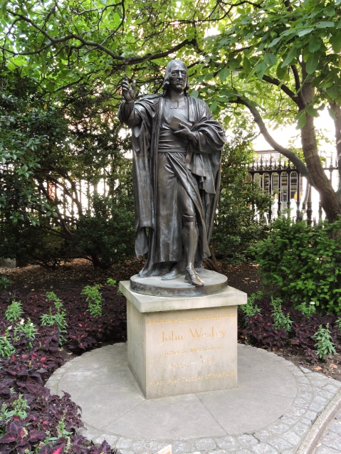 John Wesley statue at St. Paul's Cathedral, London
