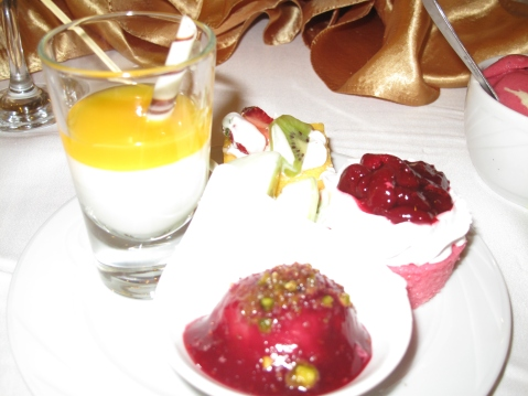 Food at the Delphin Imperial, Lara