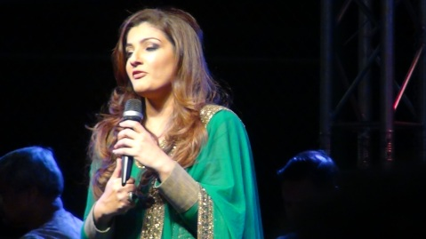 Raveena Tandon at Indian Independence Day in Los Angeles