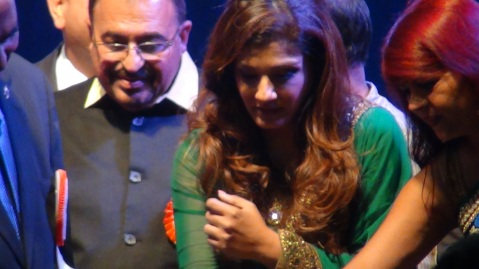 Raveena Tandon at Indian Independence Day Celebration in Los Angeles