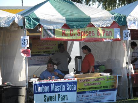 Food Vendors At Indian Independence Day Celebration in Los Angeles