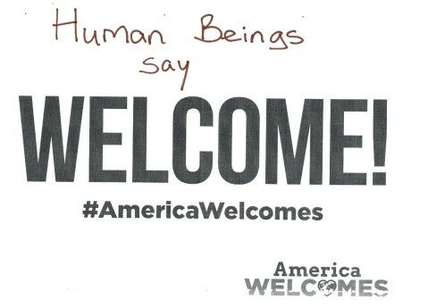 Human Beings Say Welcome