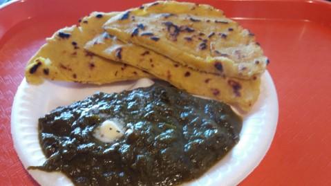 Makhi Di Roti and Saag