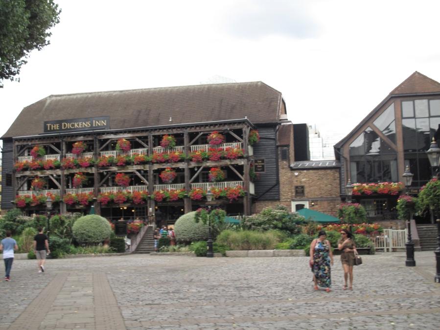 The Dickens Inn, near Tower Bridge, and St. Katherine's Docks, London