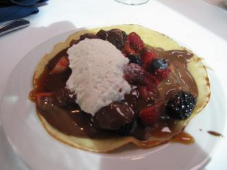Crepe at the Seaview Restaurant at the Manchester Grand Hyatt Hotel