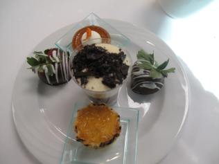 Desserts at the Seaview Restaurant at Manchester Grand Hyatt Hotel