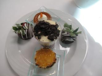 Desserts at the Seaview Restaurant at Manchester Grand Hyatt Hotel
