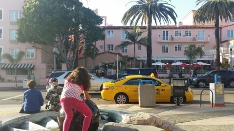 across from La Valencia Hotel, La Jolla, San Diego